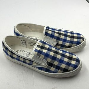 NEW Topshop Blue Plaid Women's Loafers 5.5